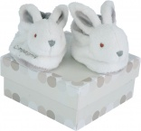 Coffret chaussons lapin Bonbon taupe