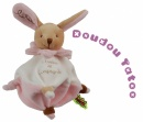 Doudou color� Tatou� lapin rose