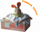 Doudou color� Tatou� lapin orange