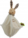 Doudou �ponge le lapin marron Tatoo