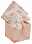 Attache sucette lapin Bonbon rose
