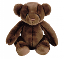 Ours peluche chocolat
