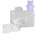Coffret veilleuse + doudou blanc